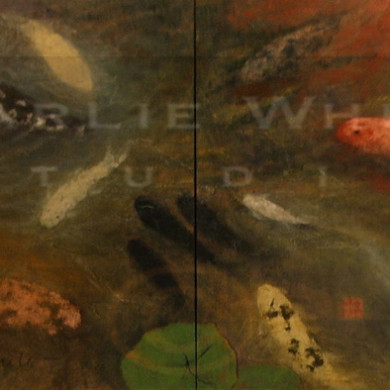 Mixed media on four canvases (quadriptych)