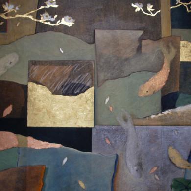 Mixed media on 3' x 4' canvas