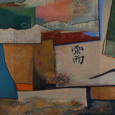 Mixed media on 5'x3' canvas