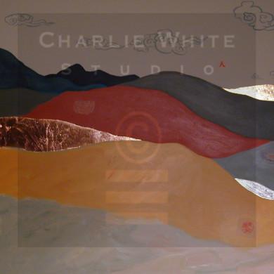 Diptych (left side): acrylic on 4' x 3' canvas